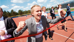 Top performing salespeople win the race